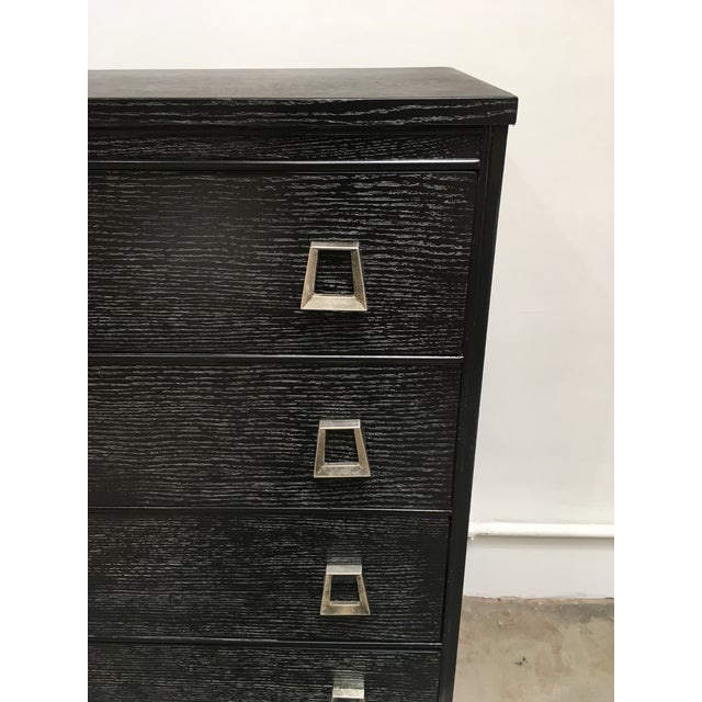 Silver 1940s Vintage Paul Frankl Cerused Oak Chest of Drawers For Sale - Image 8 of 12