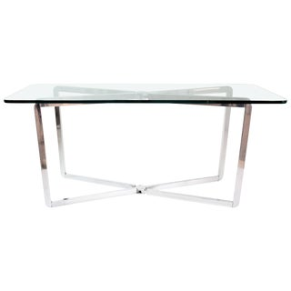 20th Century Vintage Folding Aluminium Console Table by Michel Boyer, 1970s For Sale