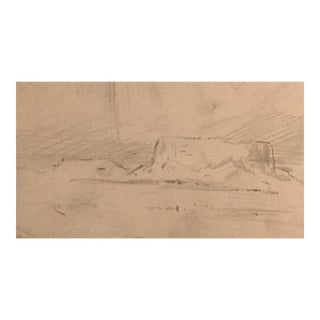1930s Americana Plein Air Western Sketch by Eliot Clark For Sale