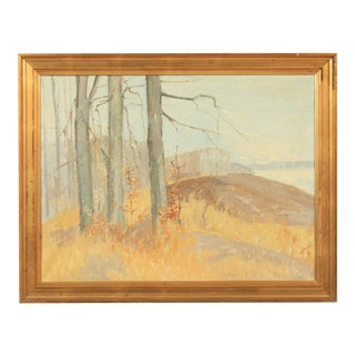 Expressionist Autumn Landscape by Jørn Glob For Sale