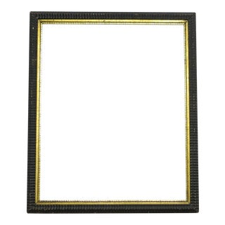 1850 Antique Ripple Picture Frame For Sale