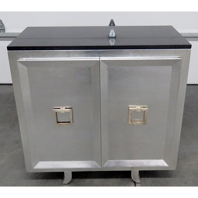 20th Century Art Deco Style Slate Top Commode For Sale - Image 9 of 9