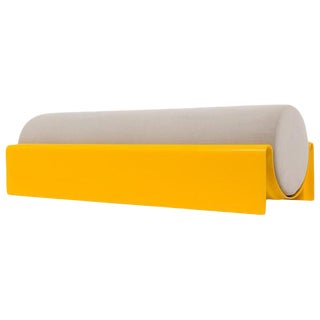 Asa Pingree Yellow Monitor Fiberglass Upholstered Bench
