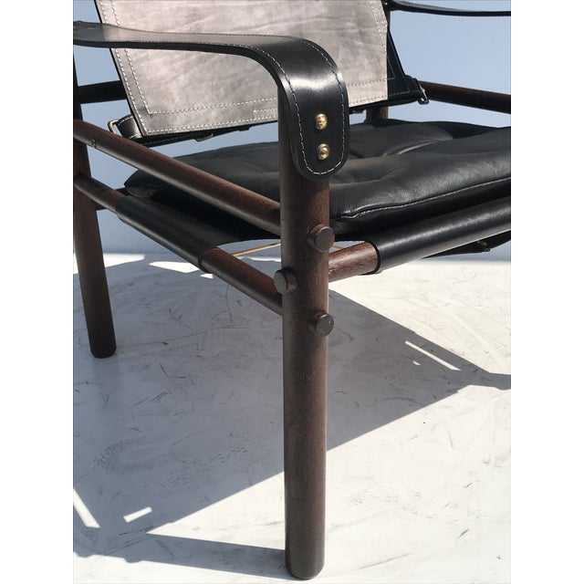 """Pair of Arne Norell Black """"Sirocco"""" Safari Chairs For Sale - Image 10 of 11"""
