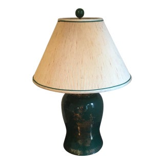 1980s Vintage Green Table Lamp For Sale