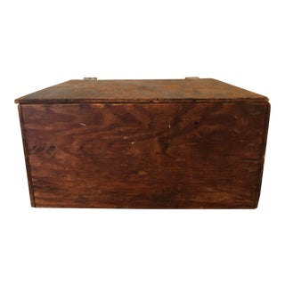Vintage Handmade Wooden Rustic Box For Sale