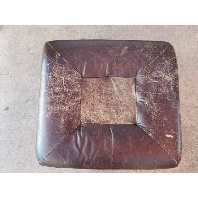 Percival Lafer Leather Footstool by Percival Lafer For Sale - Image 4 of 5