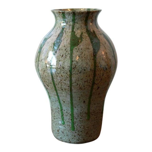Signed Multicolored Studio Pottery Ceramic Vessel For Sale