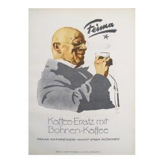 Original German Coffee Poster, 1926, Feima