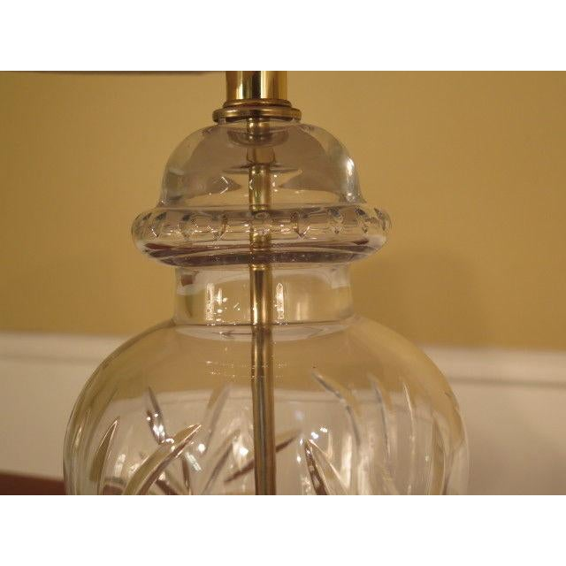 1980s Waterford Crystal & Brass Table Lamps - a Pair For Sale - Image 5 of 10