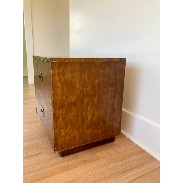Late 20th Century Dixie Campaign Nightstand For Sale In Seattle - Image 6 of 12