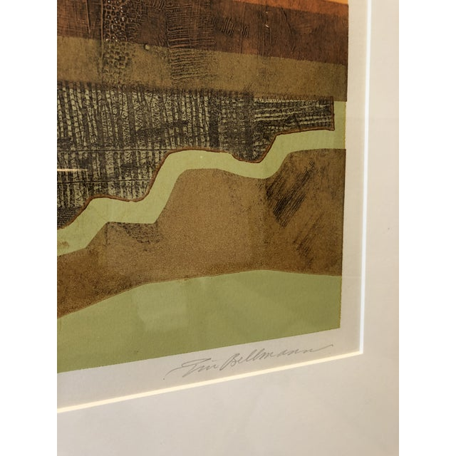 Eric Bellman Mixed Media Abstract of Southwest For Sale - Image 5 of 11