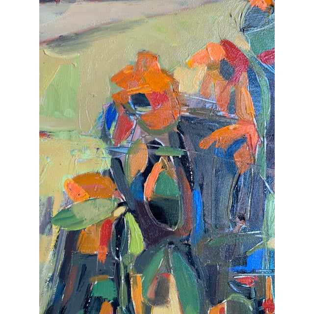 """Abstract Abstract Oil """"Island Flowers"""" by Anne Darby Parker For Sale - Image 3 of 4"""