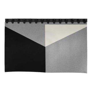 Range Headboard Tapestry by Moses Nadel in Black, Cream and Grey For Sale