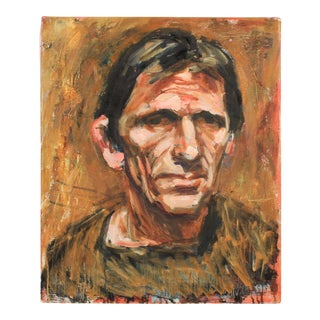 Portrait of Danish Musician Peter Bastian by Mogens Hoff For Sale