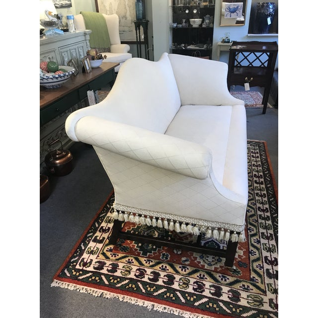 Traditional Federal Camelback Mahogany Loveseat For Sale - Image 3 of 8