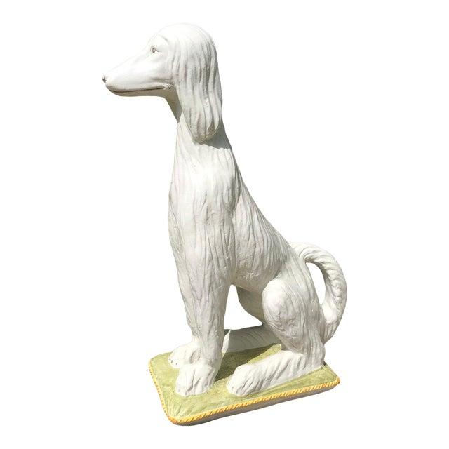 Afghan Terracotta White Dog For Sale