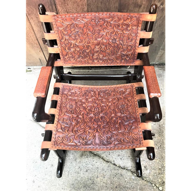 Mid Century Angel Pazmino Sculptural Rosewood Rocking Chair For Sale - Image 9 of 10