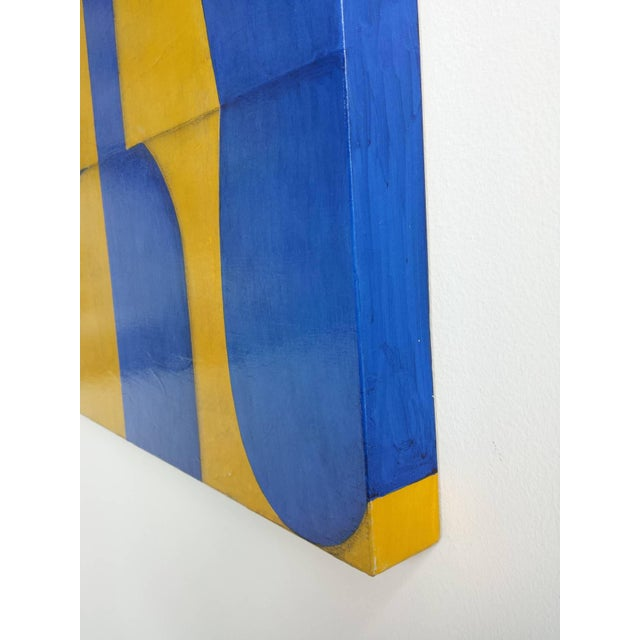 Post Dogmatist Painting #653 paper and acrylic on panel signed verso Cecil Touchon Born 1956 Austin, Texas is a...