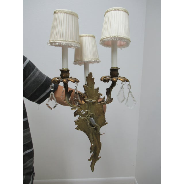 Vintage Chapman Brass French Regency Wall Sconces - a Pair For Sale - Image 11 of 12