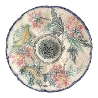 1890 Majolica Wasmuel Oyster Plate For Sale
