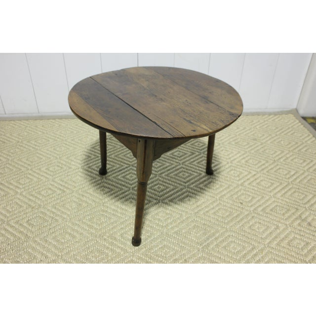 Traditional 1900s Traditional Round Cricket Table For Sale - Image 3 of 7