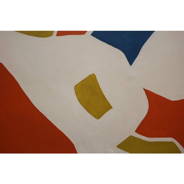 Mid-Century Modern Large-Scale Hard Edge Painting by Antonia Davis For Sale - Image 3 of 9