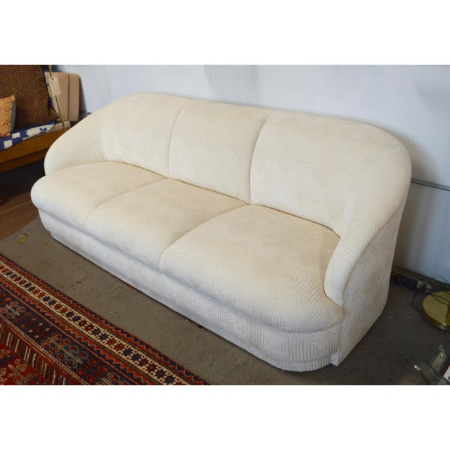 This outstanding puffy cloud just got back from the upholsterer. Made for Weiman furniture in the 1980s, it's been...