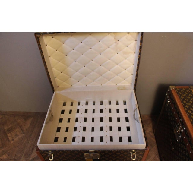 Pair of Louis Vuitton Monogram Steamer Trunks, Malles Louis Vuitton For Sale - Image 11 of 13