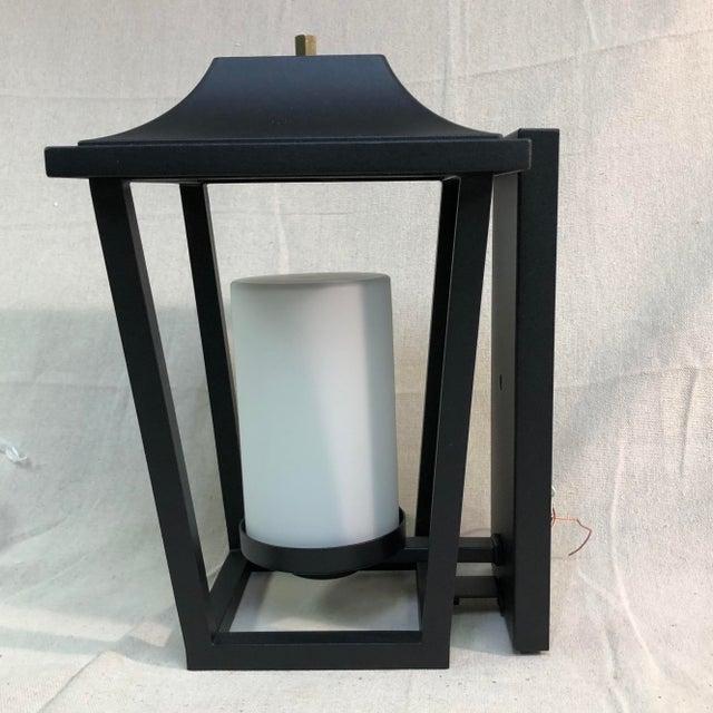 Metal Hinkley Lighting Sullivan Outdoor Black Lantern Wall Sconce For Sale - Image 7 of 13