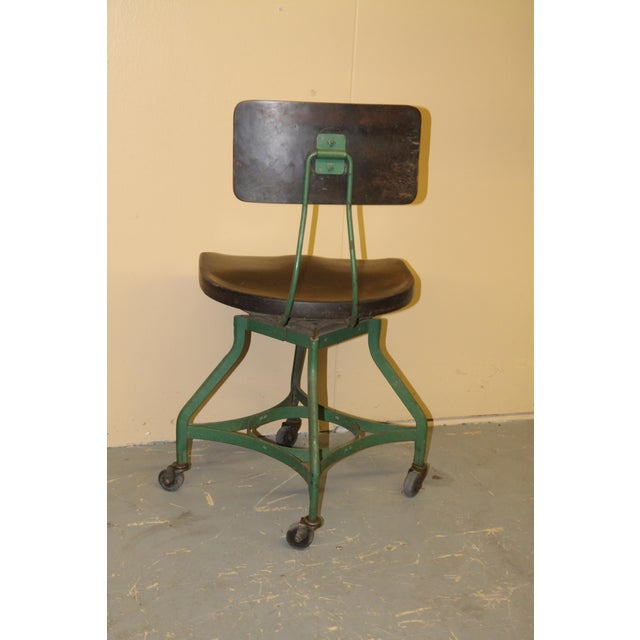 Industrial 1950s Vintage Toledo Metal Furniture Co Industrial Chair For Sale - Image 3 of 7