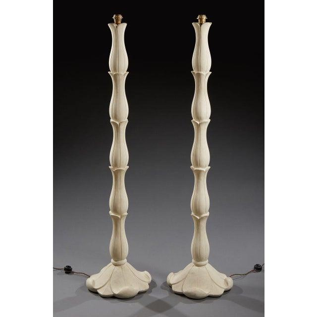 1960s Riccardo Scarpa (1905-1999) - Circa 1960 - Pair of Plaster Floor Lamp. For Sale - Image 5 of 5