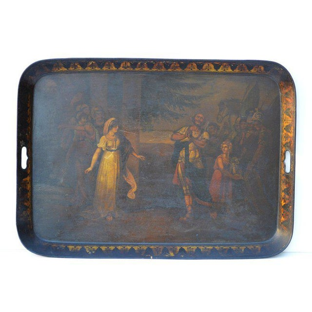 English Painted Tole Tray, Circa 1840-60 For Sale - Image 4 of 4