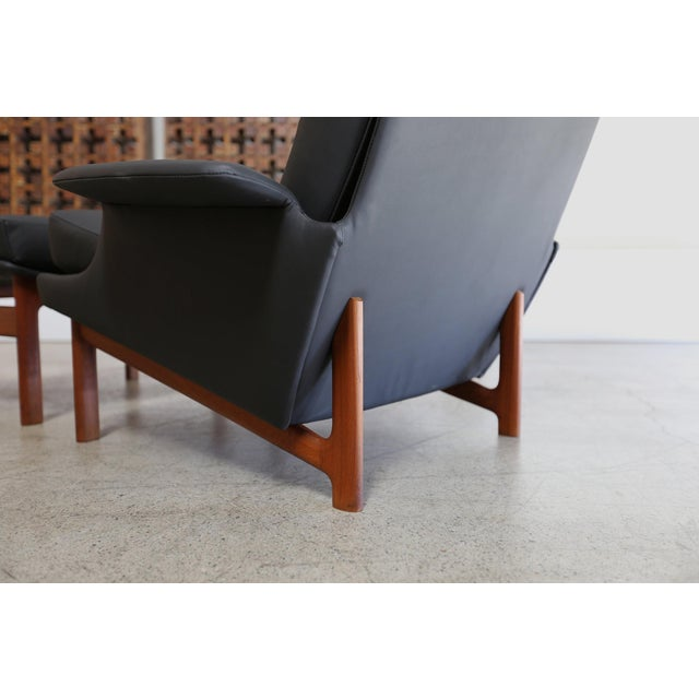 """Mid 20th Century Ib Kofod-Larsen for Mogens Kold """"Adam"""" Lounge Chairs With Ottoman - 3 Pc. Set For Sale - Image 5 of 9"""