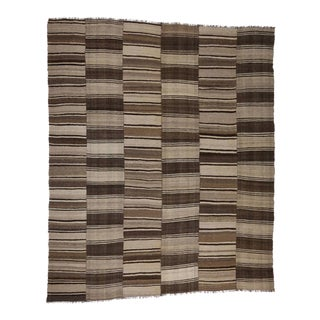 Vintage Persian Kilim With Mid-Century Modern Style, Oversized Rug, 13'09 X 16'08 For Sale