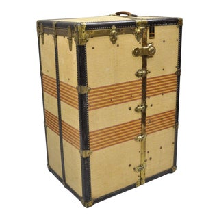 Antique Oshkosh the Chief Wardrobe Steamer Trunk For Sale