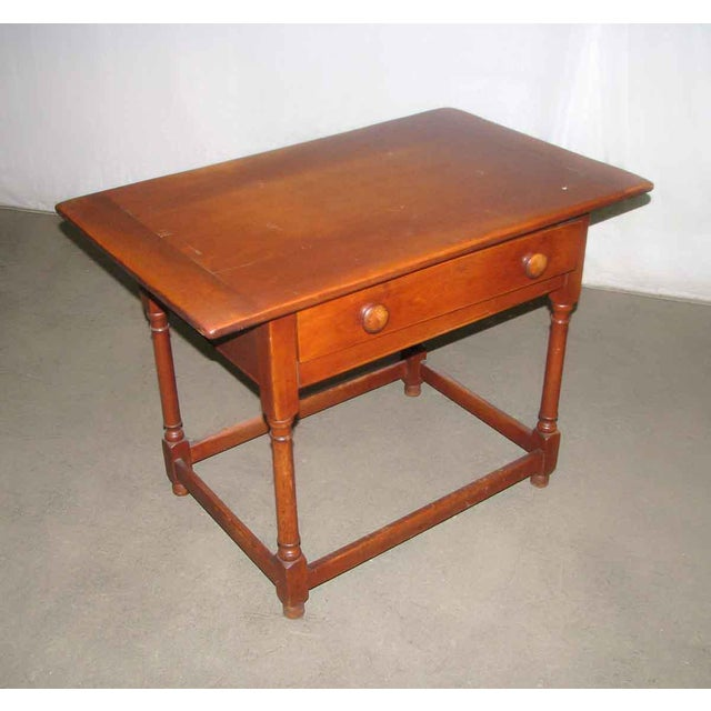 Country Vintage Maple Desk Table For Sale - Image 3 of 7