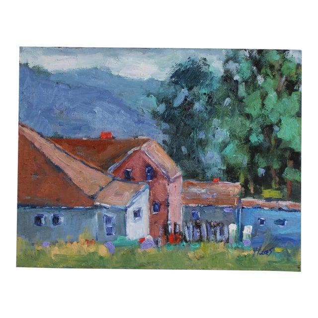 Original Oil Painting Landscape, Fort Bragg California For Sale