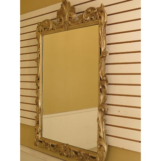 French Louis XV Style Silver Decorated Wood Framed Mirror Preview