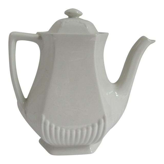 Vintage White Adams English Ironstone Coffee Pot For Sale