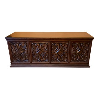 Mid-Century Carved Wood Spanish Revival Buffet