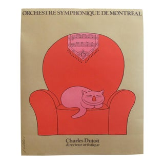 1967 Original Poster for the Orchestre Symphonique De Montreal, Charles Dutoit, by Fiorucci Vittorio