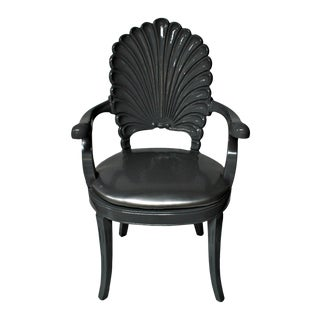 Silver Shell Armchair For Sale
