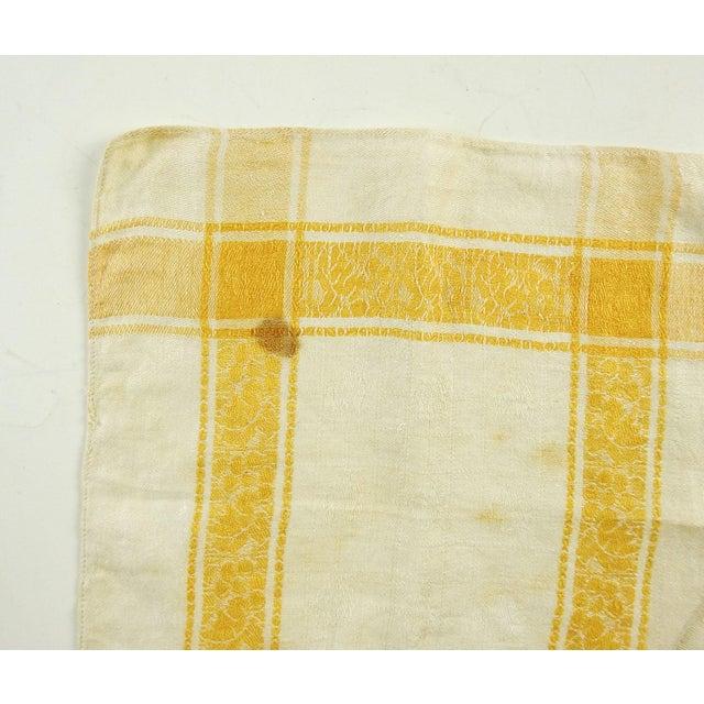 Cotton Damask Yellow Plaid Napkins - Set of 6 For Sale - Image 4 of 5
