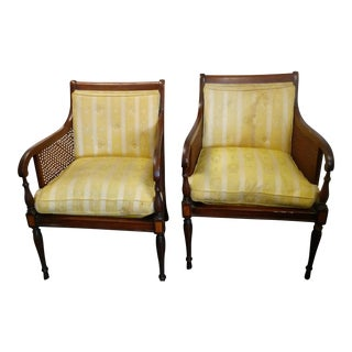 Hickory Chair Co. Vintage Club Chairs - A Pair For Sale