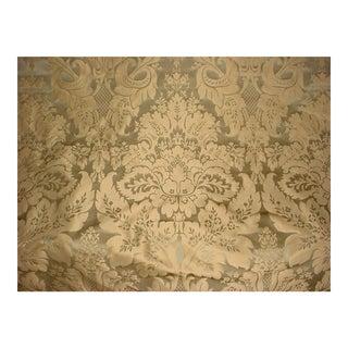 Kravet Couture Limoges Silk Damask Golden Sage Upholstery Fabric- 5 Yards For Sale