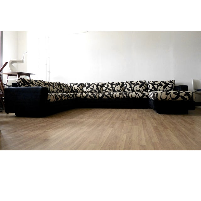 Abstract Patterned Secional Sofa by Directional - Image 2 of 8