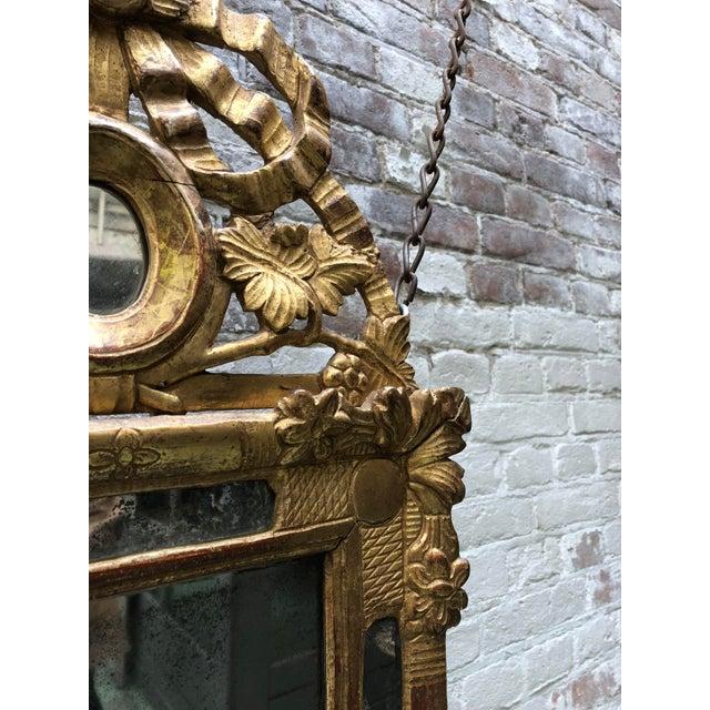 Louis XVI Beautiful Small 18th Century Mirror Louis XVI For Sale - Image 3 of 12