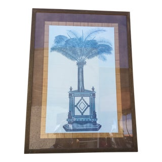 1980s Hollywood Regency Style Botanical Print For Sale