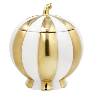 """Melon"" Sugar Pot by Josef Hoffmann Gold"